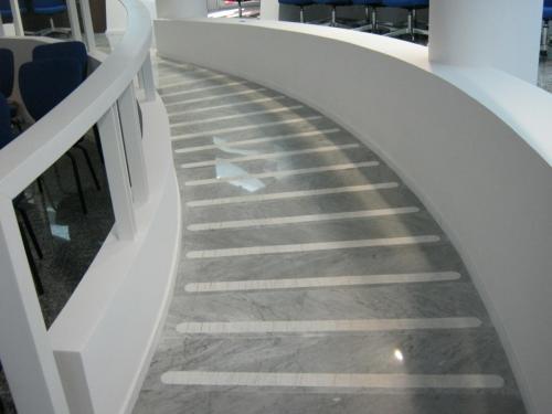 Rampa in Bianco Carrara